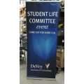 Classic Roll Up Trade Show Devry Display Stand w Case