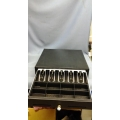 Black Metal Cash Drawer with Insert and key for POS