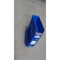 Lot of 22 Blue Plastic Bins Storage Trays 12 x 4