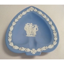 Lot of 3 Blue Wedgwood Queensware Three Muses Ashtray