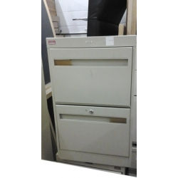 Cole Beige 2 Drawer Vertical Filing Cabinet 18 x 26.5 x 29