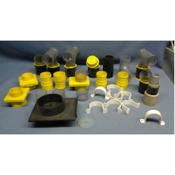 Lot of Assorted Dust Collection System Parts
