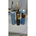 Lot of 3 Bernzomatic Propane Fuel with Brass Torch