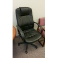 Black Executive Bonded Leather Gas Lift Meeting Office Chair