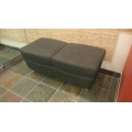 Grey Double Wide Upholstered Stool / Bench Commercial Quality