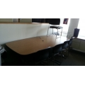 "8' / 96"" Boardroom Meeting Table Steelcase Woodgrain"