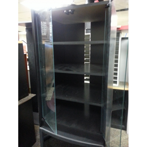 Black Stereo Cabinet with Glass Doors - Allsold.ca - Buy & Sell ...