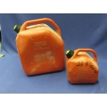 Lot of 2 Ventless Gas Fuel Jerry Cans, 5 and 25 liter