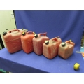 Lot of 3 Gas Fuel Jerry Cans