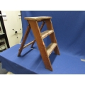 Lot Of Wooden Step Ladder And Black Tool Box