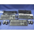 Lot Of 5 Wired Keyboards And Mice