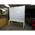 White Teknion Mobile White Board Stand , 72 x 60 in.
