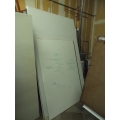 Whiteboard Walls, No Frames, approx. 59 x 100 in.