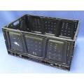 Lot of 8 Collapsible Folding Moving Storage Container Crates