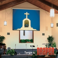 Targa Electric Power Operated Projection Screen, 108 x 108