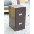Dark Brown Metal 2 Drawer File Cabinet