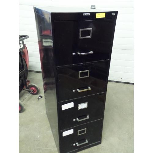 Sunar Black Vertical 4 Drawer Legal File Cabinet Locking Allsold