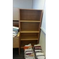Birch Wood Grain 6 ft Book Shelf w Adjustable Shelves