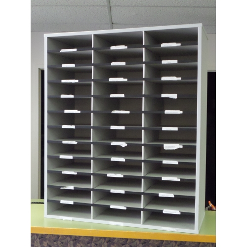 Grey 36 Slot Pigeon Hole Paper And Mail Sorter