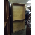 6 ft Blonde 5 Shelf Book Case w Adjustable Shelves