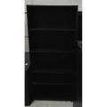 6 ft Black 5 Shelf Book Case w Adjustable Shelves