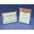 Clear Adjustable Certificate, Photograph, Award Display Frame