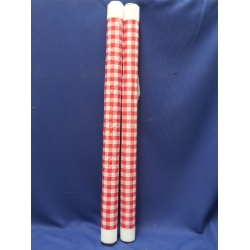 2 Rolls of Red Tartan Picnic Tablecloths