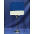 IKEA RODD Chrome Table Desk Lamp w Blue and White Shade