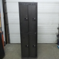 "Bank of 4 Commercial Storage Lockers 24.5"" x 21.5"" x 81"""