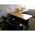 Herman Miller Tapered Edge Work Table Desk, Black Base