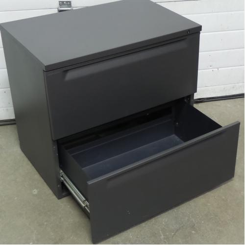 Herman Miller Grey 2 Drawer 30 in. Lateral File Cabinet, Locking ...