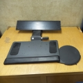 Actuated Keyboard Tray w/ Removable Mouse Pad