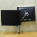 Spacedec Dual LCD Monitor Stand / Arm Mount w Swivel Adjust