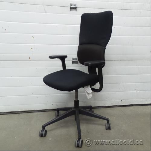 steelcase turnstone chair. Steelcase Turnstone Let\u0027s B Black Adjustable Rolling Task Chair