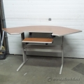 Teknion Cherry Top Sit Stand Height Adjustable Corner Desk