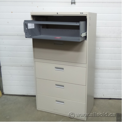 Marvelous Prosource Beige 5 Drawer Lateral File Cabinet, Locking