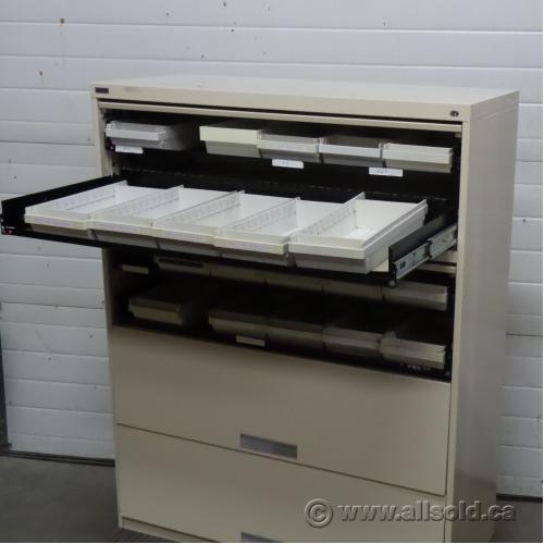 Artopex Beige 8 Drawer Microfiche Storage File Cabinet, Locking ...