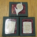 Lot Of 3 Demdaco, Christmas Wishes, Christmas Ornament Frames