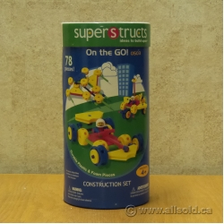 SuperStructs Construction Set, On The GO! 0503, 78 Pieces