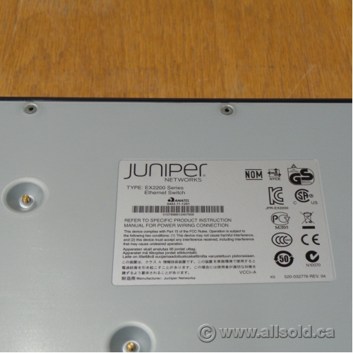 Juniper Networks EX2200 24 Port Ethernet Switch - Allsold ca