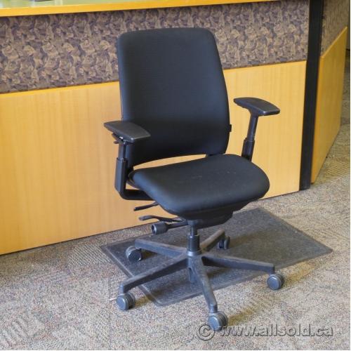 Steelcase Amia Black Adjustable Ergonomic Task Chair W Arms