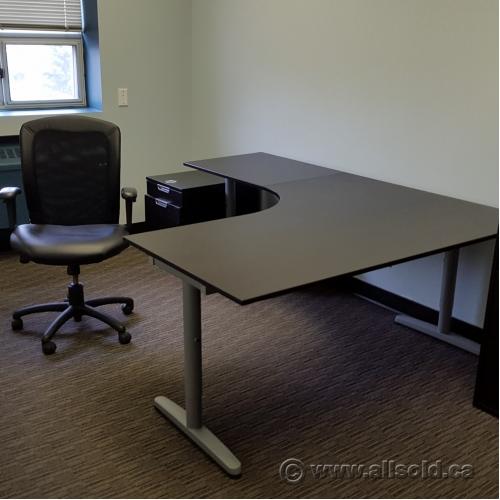 Ikea Office Furniture Galant. Exellent Office Ikea Galant Espresso Modular  Open Style L Suite Desk