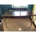 Espresso 60 x 30 in. Work Table Desk with Chrome Legs