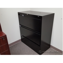 "Global Black 36"" 3 Drawer Lateral File Cabinet, Locking"