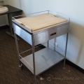 Stainless Steel Mobile Rolling Utility Cart with Drawer