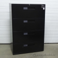 "Global Black 36"" 4 Drawer Lateral File Cabinet, Locking with Key"