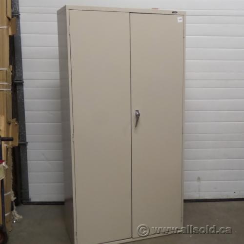 Global Beige 72 2 Door Metal Storage Cabinet Locking Allsold