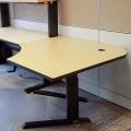 Gunnar Blonde and Black 48 x 48 Height Adjustable Corner Desk