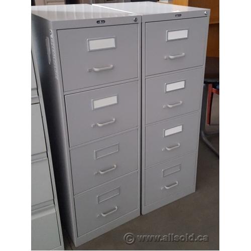 Prosource Grey 4 Drawer Vertical Legal File Cabinet, Locking