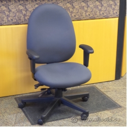 Grey Fully Adjustable Ergonomic Rolling Task Chair